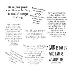 Scripture Word Art Collection 8 Bible Verse by ChangingVases, $3.00