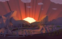 When The Sun comes down ( low poly style ) by brainchilds.deviantart.com on @deviantART
