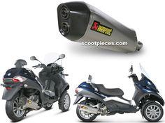 Pot Akrapovic SLIP-ON LINE STREET LEGAL non catalyse Gilera / Peugeot / Piaggio 400 - 500MP3 400