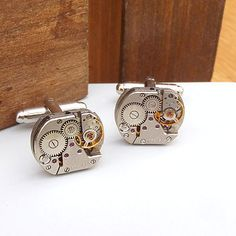 Rounded Square Vintage Watch Cufflinks