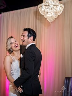 We love how happy this couple looks for their first dance! This is from a beautiful styled shoot at Cary, North Carolina wedding venue Chandelier. Tu-can Jamz played the perfect song for the couple to dance to. Photos by Clay did a wonderful job capturing the love between this bride and groom.