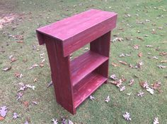 Pallet console table Entry table Shoe rack I got this style from a Pinner, it's not my own idea