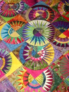 Pictures of Quilts with a Circular Theme: New York Beauty Quilt