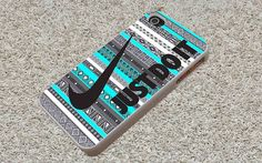 Just Do It Nike on Aztec Mint for iphone 4/4s/5/5s/5c by ISNAINUN, $7.50 This is sooooooo cute I love the colors and it is sooooooo my stlye!