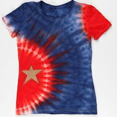 Star-studded tie dye.  Maybe a white star instead of gold?