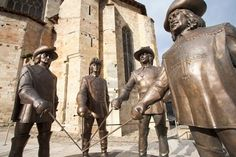 statue of the four musketeers in Condom, France- 45 mins from the vacation house.