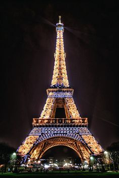 Eiffel Tower, Paris - France  - My daughter and I were there at night.  Very pretty.