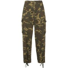 Proenza Schouler PSWL Camo Cargo Pant ($510) ❤ liked on Polyvore featuring pants, black, camoflauge pants, cotton cargo pants, military camouflage pants, camo pants and cargo pants