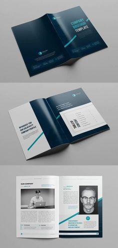 Professional Company Profile Brochure Template INDD Brochure Design, Brochure Template, Company Profile Design Templates, Cake Decorations, Print Templates, Magazine, Ideas, Card Templates Printable, Flyer Design