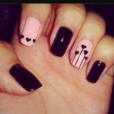 (Did these Elegant Short Nail Designs 2014 Nail Designs 2014, Heart Nail Designs, Simple Nail Designs, Pretty Designs, Heart Nail Art, Heart Nails, Cute Nail Art, Cute Nails, Nagellack Design