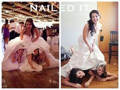 """Nailed it"" funny wedding photography!"