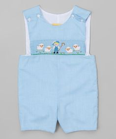 Another great find on #zulily! Turquoise Shepherd Shortalls - Infant & Toddler #zulilyfinds