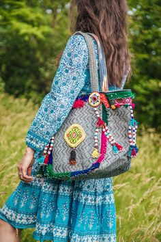 "Silvia believes it's important to maintain century-old traditions and to always try to highlight the imprint of the human hand.  She teamed up with a group of talented Afghan people to together create bags that tell their history, the history of the ancient hippie trail. We happily welcome our new bags ""A heart at peace"". And are proud to again have the possibility to support amazing craftsmanship of local artisans and give back to indigenous communities from Afghanistan. Indigenous Communities, Clutch Bag, Tote Bag, New Bag, Afghanistan, Jet Set, Highlight, Purses And Bags, Trail"