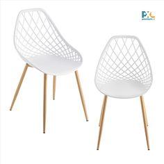 Elegantné a štýlové dizajnové plastové stoličky Warschau ABCS-3504 sa hodia k jedálenskému stolu, do pracovne, haly, či čakárne alebo zasadačky. Výška: 83 cm, šírka: 48 cm, hĺbka: 58 cm, výška sedáku: 45 cm. Sedák: biely plast (PP), nohy stoličiek: kov, dekor buk. 2 ks balenie, produkt značky [en.casa]