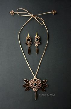 Hey, I found this really awesome Etsy listing at https://www.etsy.com/listing/211173524/handmade-soutache-necklace-and-earrings