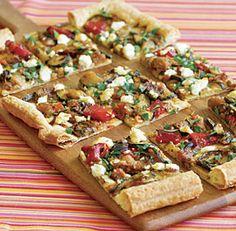 SIMPLE PROVENCAL VEGETABLE TART  http://www.finecooking.com/recipes/simple-provencal-vegetable-tart.aspx