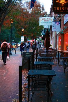 THE CORNER met my husband here!!! Charlottesville, Virginia Not my picture.  Also met my husband here