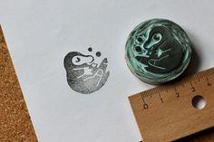 Niffler Stamp - handmade unique gift.  http://de.dawanda.com/product/110830823-stempel-kleiner-schatzmeister-unikat
