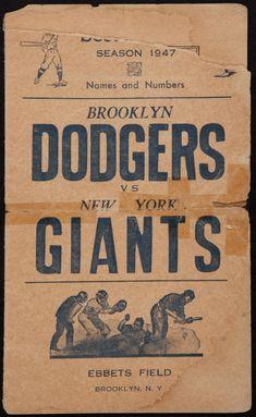 1947 Dodgers vs Giants