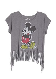 dELiAs > Vintage Mickey Tee With Fringe > tops > graphic tees > view all graphic tees