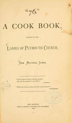 """76."" A cook book"