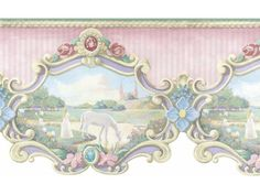 Wall border for carousel top.