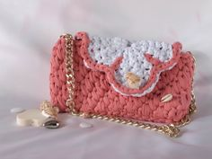 #Borsa in fettuccia fatta a mano all'uncinetto, #Crochet hand made, by Je t'Amy, 25,00 € su #misshobby.com