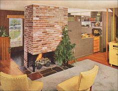 1953. THAT IS THE FIREPLACE AND FLOOR PLAN OF MY1950 HOUSE