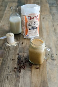 The Dirty Chai- instant coffee gives this smoothie a little kick! Get the recipe at bobsredmill.com and be prepared to supercharge your day with plant-based protein, fiber and probiotics.