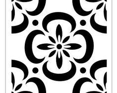 TILE78 Reusable Laser-Cut Floor or Wall Tile Stencil