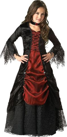Countess Bloodthorne Vampire Girl Child Costume