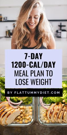1200 calorie a day meal plan to lose weight and get a flatter tummy in 1 week or less. Do you struggle keeping your meals in check for weight loss? We made it easy for you to eat healthy and stay low-calories to lose weight. 1200 calorie a day meal plan … 1200 Calorie Diet Menu, Healthy Low Calorie Meals, Ketogenic Diet Meal Plan, Low Calorie Recipes, Diet Meal Plans, Eat Healthy, Meal Prep, Low Calorie Meal Plans, Healthy Weekly Meal Plan