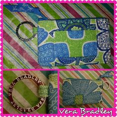"""NEW! VERA BRADLEY ID COIN PURSE Outfitted with a convenient ID window and attached key ring, this Vera Bradley top zip case puts a fun twist on organizing in signature quilted cotton and a playful pattern. Signature Collection is made of 100% cotton. Exterior features silver-tone hardware, attached key ring and ID windowZipper closure. Interior features interior divider5"""" W x 3"""" H x 1"""" D. If you are on M3RC@RI,  I can do better on the price and shipping.  Make me an offer, gorgeous! xoxo…"""