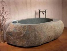 THIS IS A BIG BOWL BATHTUB  How To Hollow Out Stone instructions is for a small bowl... someone was creative and wished I had this in my garden!