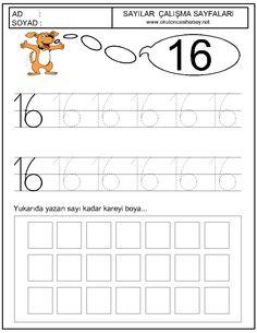 16 sayısı okul öncesi çalışmaları - Google'da Ara