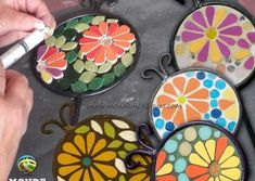 Mosaic Projects, Mosaic Art, Ale, Lettering, Flowers, Crafts, Decor, Ideas, Mirror Mosaic