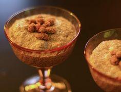 Mulberry chia pudding recipe. Raw, vegan