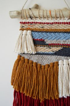 Woven Wall Hanging Aztec Southwestern Style Weaving Bohemian