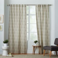 Find your sweet spot. Screen-printed onto cotton canvas, our Stamped Dots Curtain is a fun, casual print that plays well with almost any color palette thanks to its neutral, gray shade. Let it hang solo or add a sheer panel or two for a layered look.