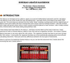 Abacus Soboran Japanese Math Homeschool Manual How to use Japanese Math, Abacus Math, Room Organization, Homeschooling, Manual, Education, Kids, Children, Boys