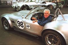 Carrol Shelby in his greatest creation.. the AC Cobra