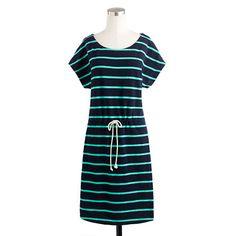 Drawstring tunic in stripe.