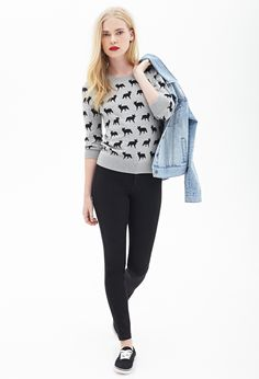 Fox Parade Sweater - Sweatshirts & Knits - 2000063783 - Forever 21 EU