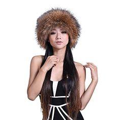 URSFUR Raccoon Fur Crockett Hat Davy Crockett Hats Natural Color Review