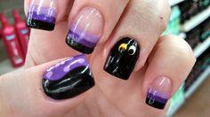 My Ursula/Flotsam & Jetsam nails for The Little Mermaid