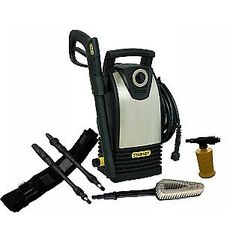 Stanley -1600 PSI 1.4 GPM Electric Pressure Washer with High Pressure Variable Spray Gun and Clip-On Belt