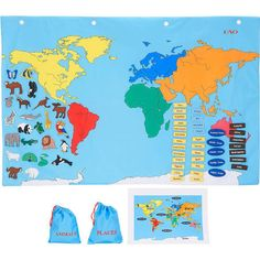 World Map Interactive Map WALL DECAL By TheLovelyWall On Etsy - Toys r us wall maps and glodes