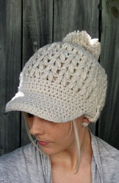Womens Newsboy hat  No idea how you'd make this, but it's so cute!