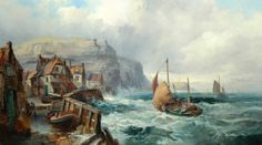 Staithes by Robert Ernest Roe