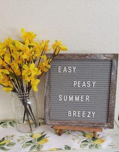 Summer letter board